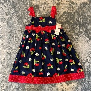 Gymboree 5T Navy/Red/Cherry Dress NWT